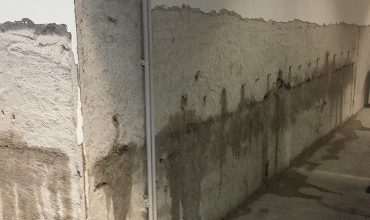 Infiltrazioni d'acqua dai muri perimetrali controterra